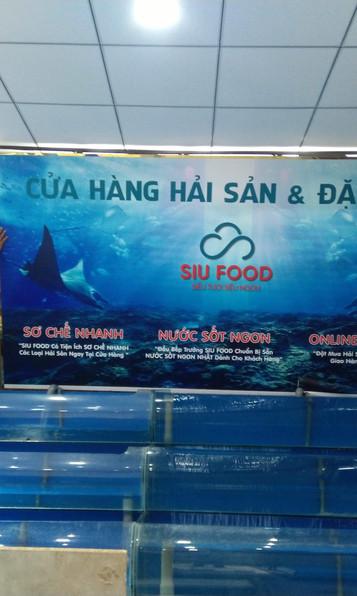 Thi công trang trí Siêu thị hải sản Siufood
