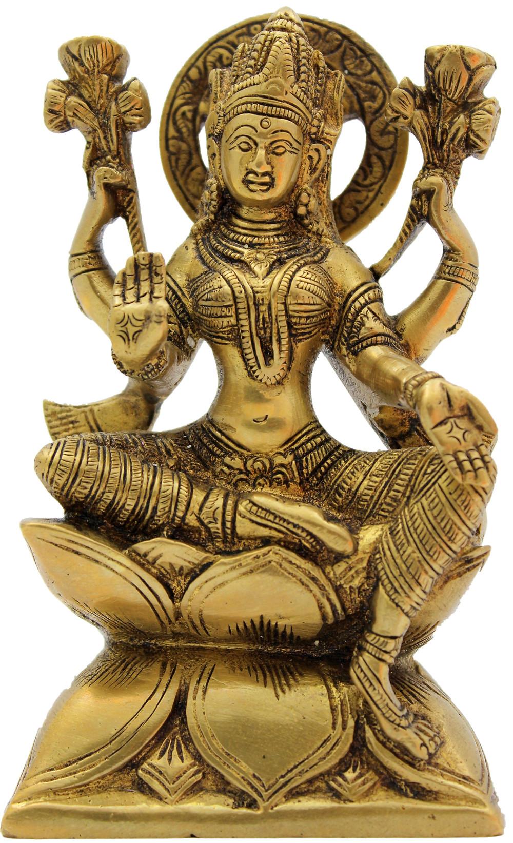 Statue en bronze de la déesse de la prospérité Lakshmi