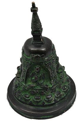 Cloche  stupa 4 Bouddhas Bronze N471