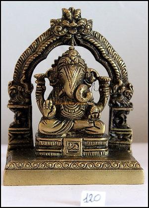 Statue Ganesh assis Bronze N120