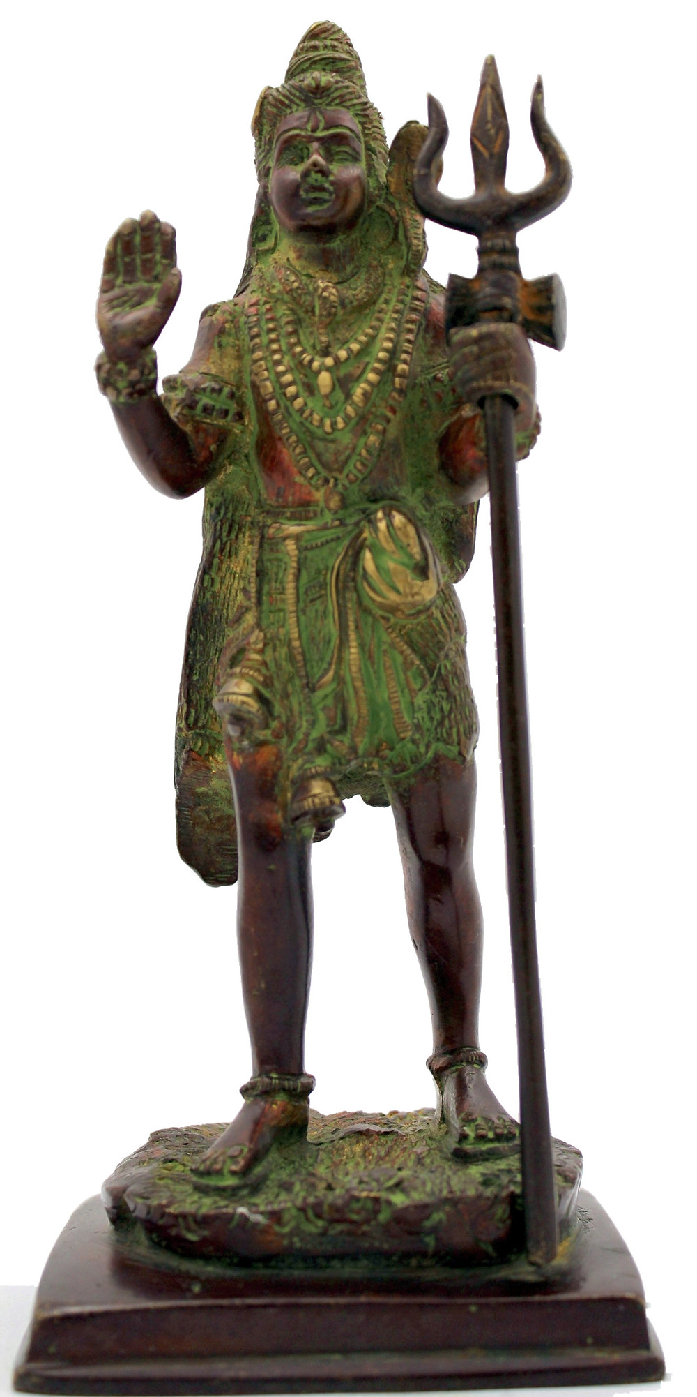 statue en bronze de Shiva  dieu hindou