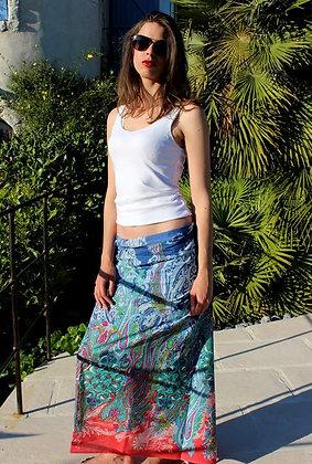 Paréo sarong Echarpe - Cachemire  - Bleu -12047P