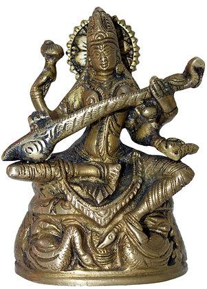 Statue Saraswati Bronze N193
