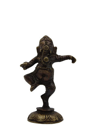 Statue Ganesh Nritya dansant Bronze N336
