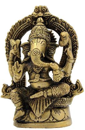 Statue Ganesh assis Bronze N 222