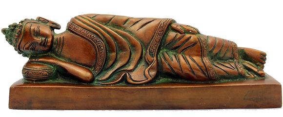 Statue Bouddha Shakyamuni allongé Bronze N234