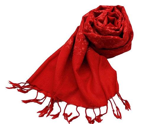 Etole Laine Unie Brodées Fleurs Unies N4