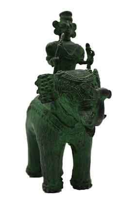Statue Eléphant roue Bronze N354