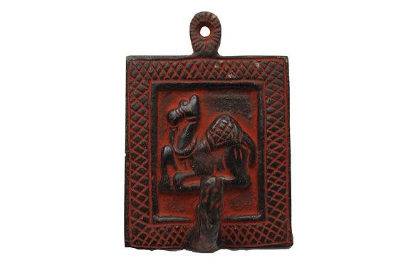 Patère 1 crochet Dromadaire Dhokra Bronze N445