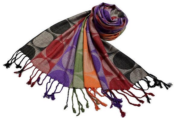 Étole Viscose Rond Multicolore  N3