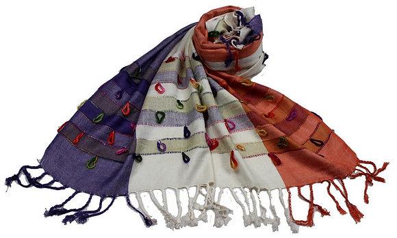 Étole Viscose Multicolor Boucles coton  N5