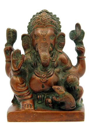 Statue Ganesh assis Bronze N 264