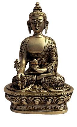 Statue Bouddha de la médecine Bhaisajyaguru Bronze N29