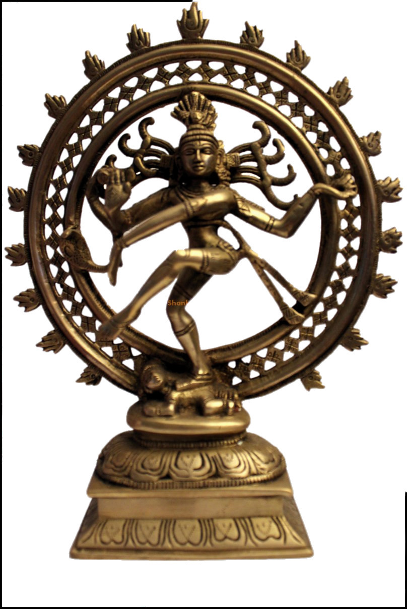 Statue en bronze de Shiva Nataraj, le danseur cosmique du Tandava