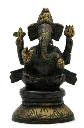 Statue Ganesh assis Bronze N277
