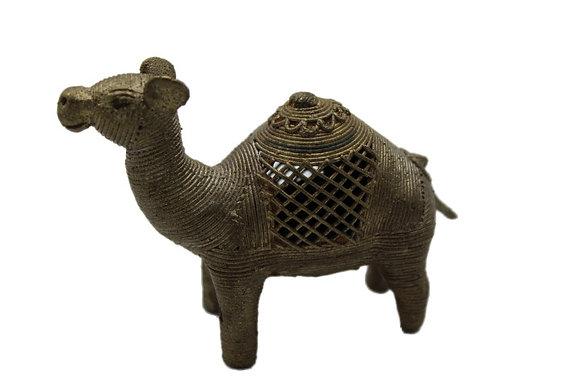 Statue Chameau Dhokra Bronze N408