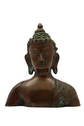 Statue Bouddha Shakyamuni Buste Bronze N316