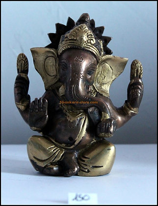 Statue Ganesh assis Bronze N150
