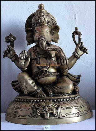 Statue Ganesh assis Bronze N169