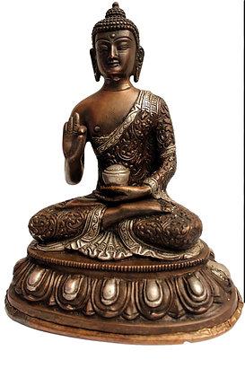 Statue Bouddha Shakyamuni Bronze N56