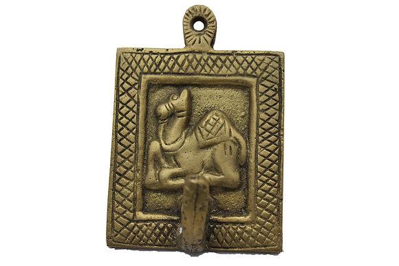 Patère 1 crochet Dromadaire Dhokra Bronze N444