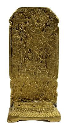 Statue Radha/Krishna  Porte encens Bronze N422