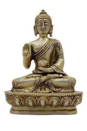 Statue Bouddha Amoghasiddhi Bronze N317