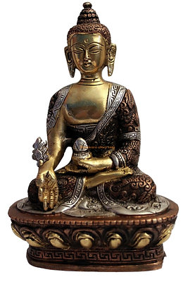 Statue Bouddha de la médecine Bhaishajyaguru  Bronze N32