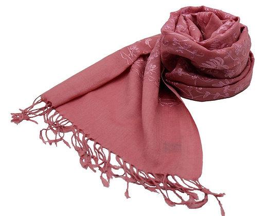 Etole Laine Unie Brodées Fleurs Unies N2