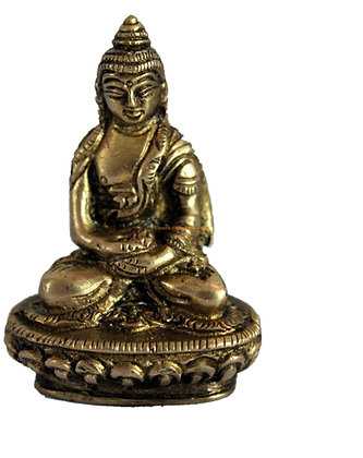 Statue Bouddha Amitabha assis Bronze N74