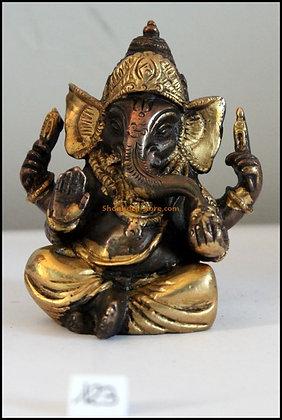 Statue Ganesh assis Bronze N123