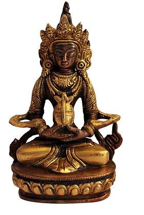 Statue Bouddha Amitabha Tibétain Bronze N78
