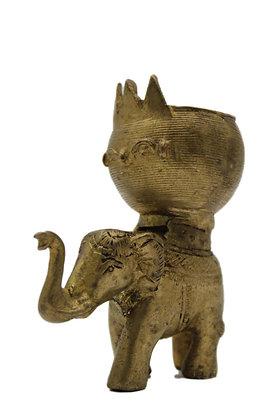 Objet Pot  Elephant dhokra Bronze N368
