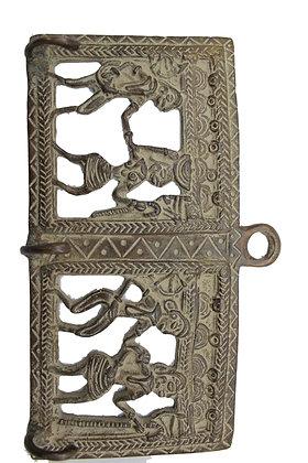 Déco murale 3 crochets Dhokra Bronze N449