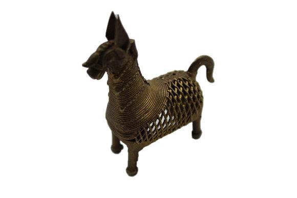 Statue Cheval Dhokra Bronze N413