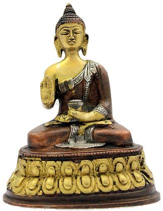 Statue Bouddha Shakyamuni Bronze N236