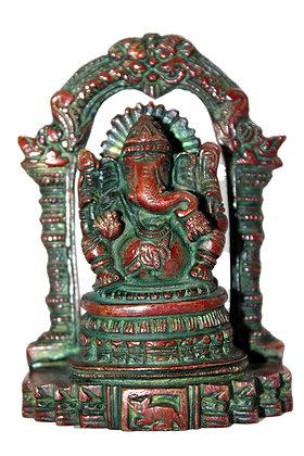 Statue Ganesh assis Bronze N197