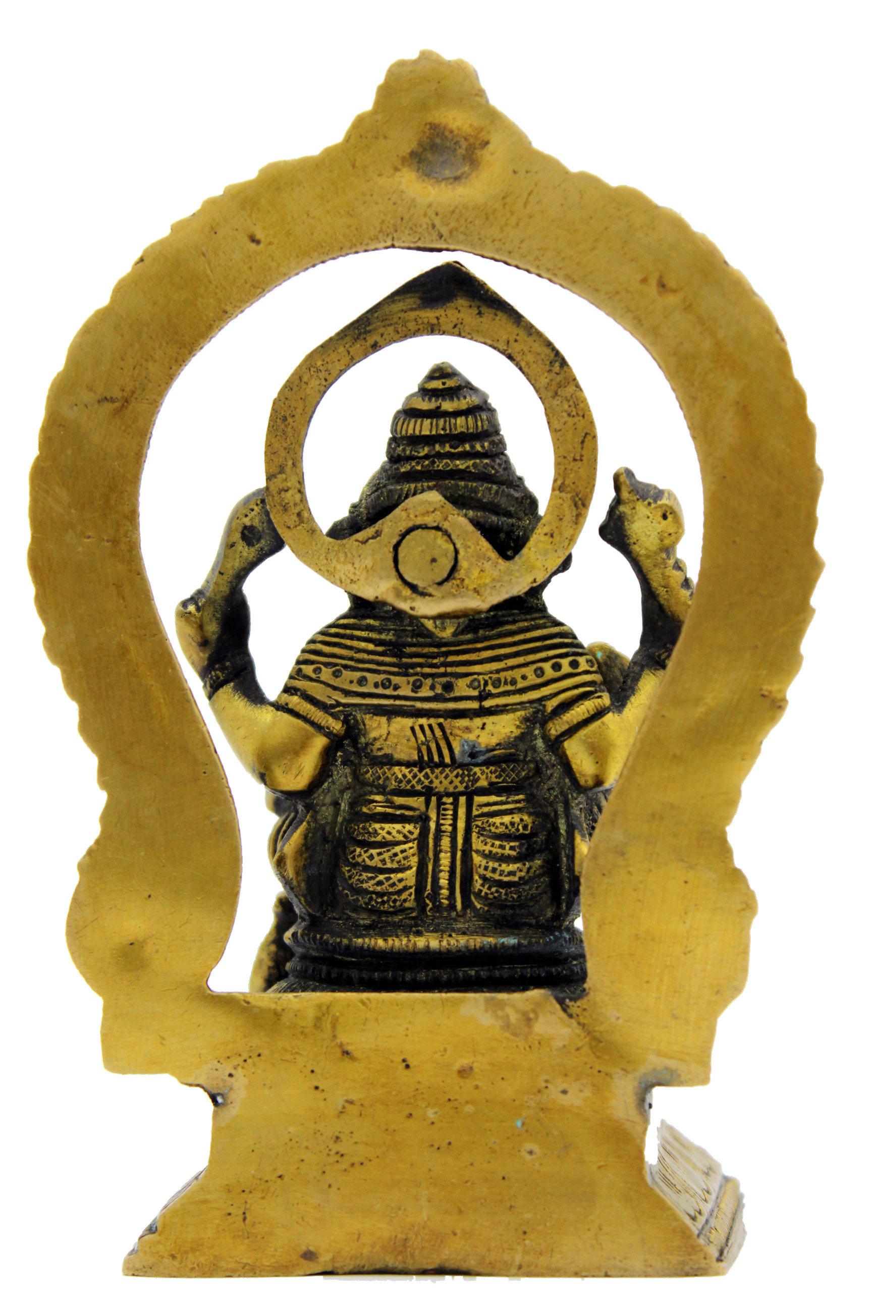 Ganesh Trompe A Droite statue ganesh assis bronze n 219   shankara-store