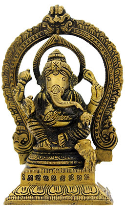 Statue Ganesh assis Bronze N 219