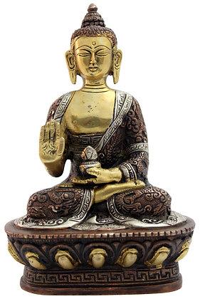 Statue Bouddha Amoghasiddhi assis Bronze N185