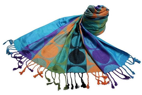 Étole Viscose Rond Multicolor  N9