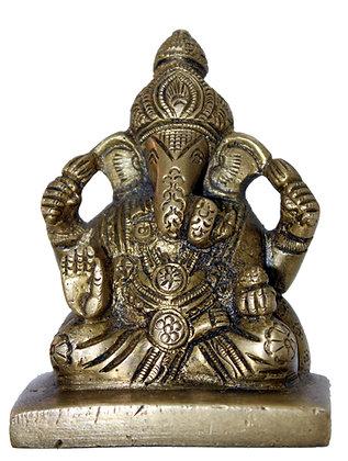 Statue Ganesh assis Bronze N198