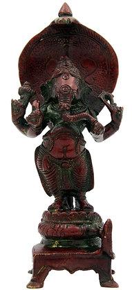 Statue Ganesh Vighmaraja debout sur le serpent  Sheshnag Bronze N 270