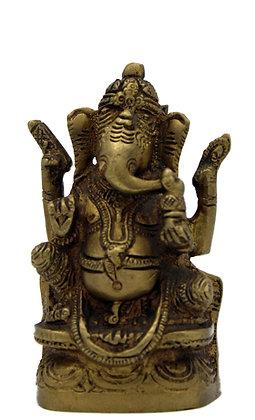Statue Ganesh assis Bronze N 273