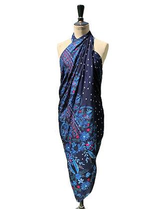 Paréo sarong Écharpe - Nuit d'Orient - Bleu -16023P