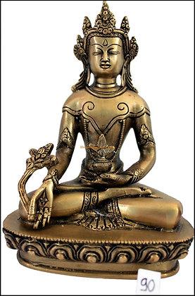 Statue Bouddha de la médecine Bhaishajyaguru Tibétain Bronze N90