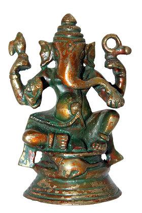 Statue Ganesh assis Bronze N196