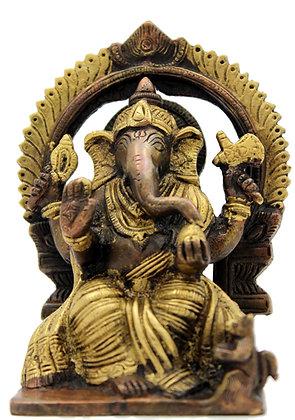 Statue Ganesh assis Bronze N 269