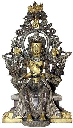 Statue Bouddha Maitreya Bronze N200