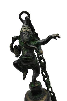Cloche à suspension Ganesh Nritia dansant Bronze N464